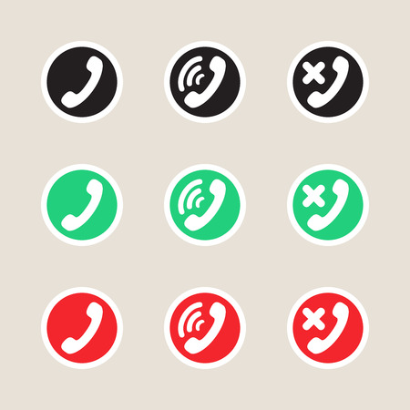 telephony: Set of vector icons telephony and communications.