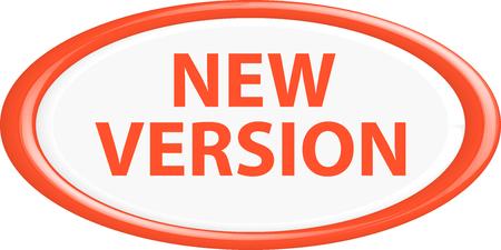 Knop nieuwe versie. De ronde vorm. 3D. Vector illustratie. Stock Illustratie