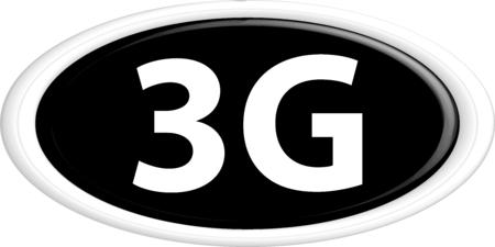 3g: Bot�n 3G. La forma redonda. 3D. Ilustraci�n del vector.