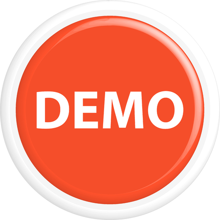demo: Button demo. The round shape. 3D. Vector illustration. Illustration