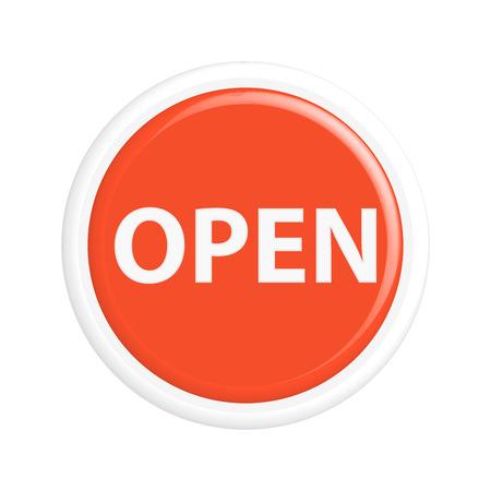 Button open.The round shape. 3D. Vector illustration. 版權商用圖片 - 41963243