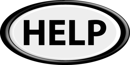 help button: Help button. The round shape. 3D. Vector illustration.