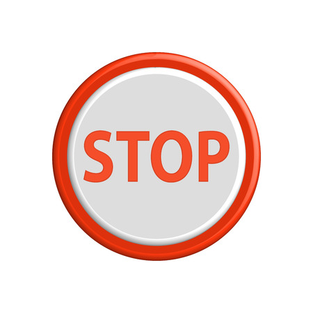 buttons vector: Butoon stop colorful 3d buttons. Vector illustration. Illustration