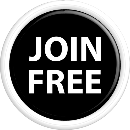 join here: Button join free. The round shape. 3D. Vector illustration.