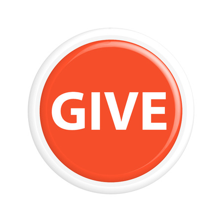 donation drive: .The round shape. 3D. Vector illustration.