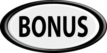 extra money: Button bonus.The round shape. 3D. Vector illustration.