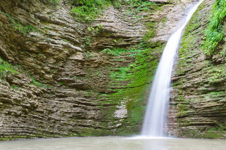 cataract waterfall: Waterfall in the mountains of the North Caucasus.