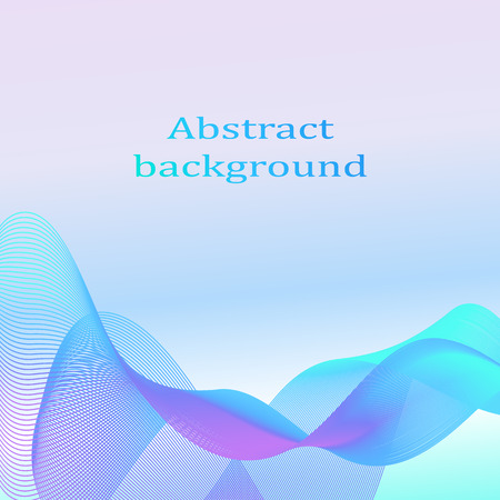 waves: Abstract smoky waves background. Template brochure design