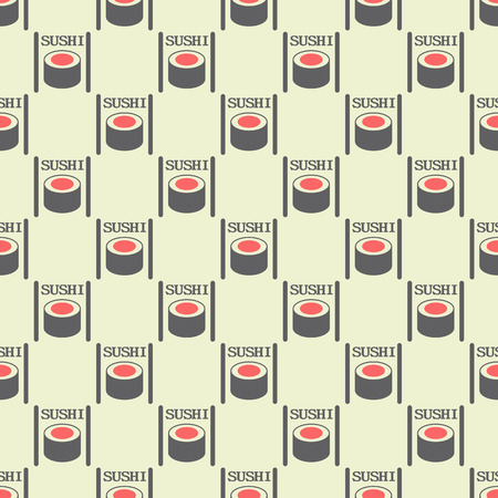 cocina japonesa: Seamless pattern from sushi to Japanese cuisine.