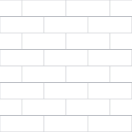 A vector illustration of a white brick wall. The wall covers the illustration from corner to corner, serving as both the background and the image. Ilustracja