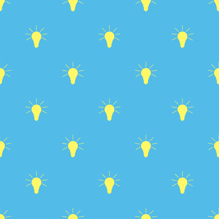 tungsten: Seamless simple pattern of lamps on a light background.