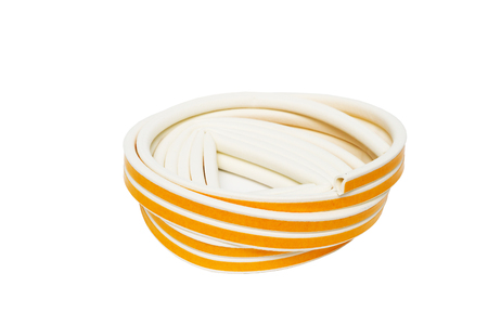 sealing tape: Sealing tape for Windows and doors in a roll isolated on white background.