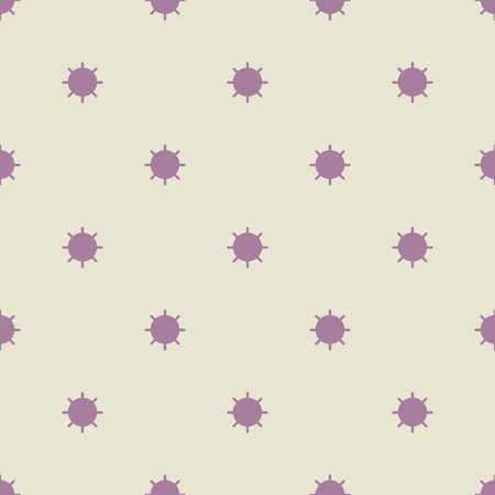 floral decoration: Seamless geometric pattern of circles with rays