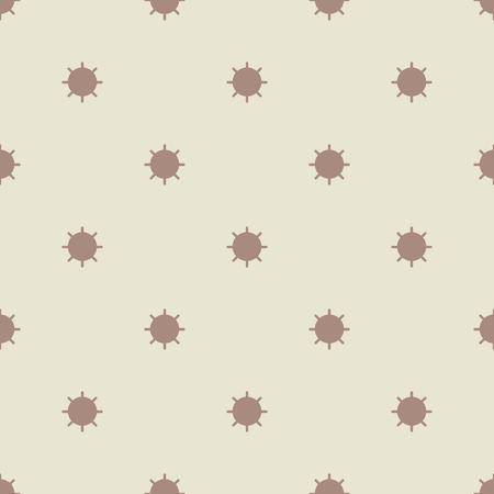 retro flower: Seamless geometric pattern of circles with rays