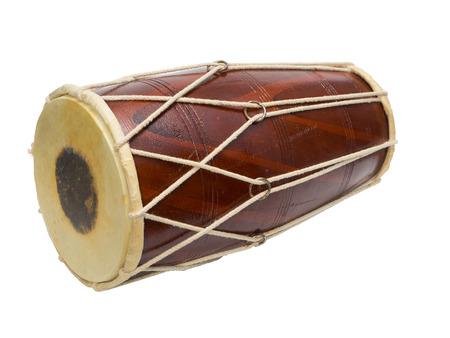 bateria musical: aislado tambor tradicional de la India Foto de archivo
