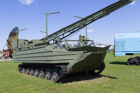speed gun: Tolyatti, RUSSIA - April 24, 2016: Soviet tank of times of world war II Editorial