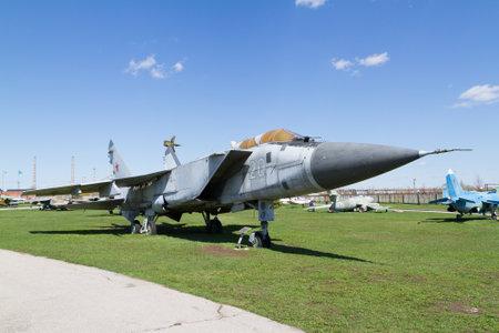 mig: Tolyatti, RUSSIA - April 24, 2016: Old Soviet military plane.
