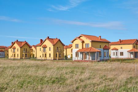 suburban neighborhood: Suburbia Houses New Development Suburban Homes in Europe. Stock Photo