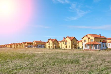 Suburbia Houses New Development Suburban Homes in Europe. Stock Photo