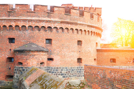Fortification bastion tower Der Dohna turm. Amber museum. Kaliningrad, Russia. Konigsberg East Prussia.