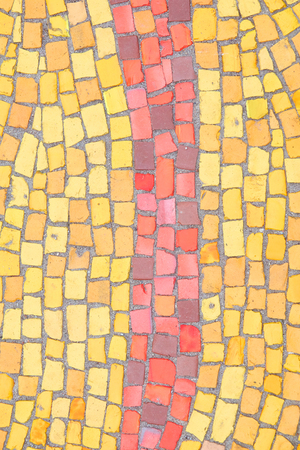 Beautiful background of multi-colored tiles. Tiled mosaic in pastel colors.
