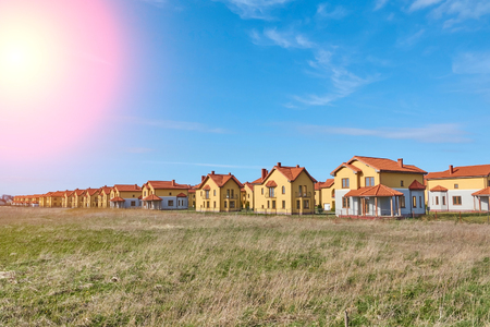 Suburbia Houses New Development Suburban Homes in Europe. Banque d'images