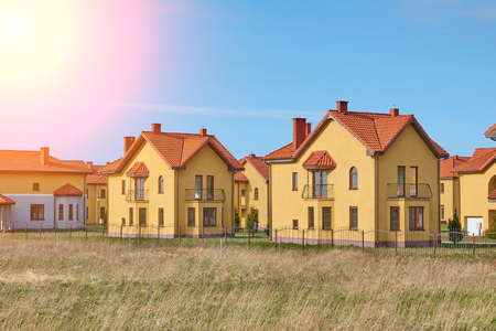 Suburbia Houses New Development Suburban Homes in Europe. Stock Photo