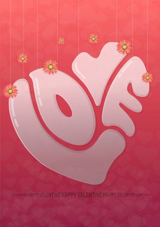 Happy Valentines Day,in love Valentines Day Illustration