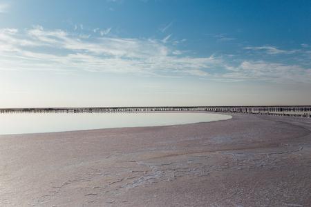 Summer landscape of a beach. Beauty of a seascape, skyline and a beach. Stockfoto