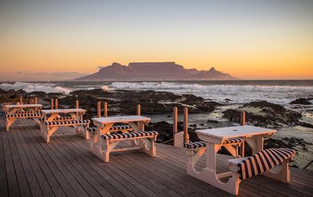 Blick nach Kapstadt, Südafrika