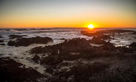 robben island: Sunset over Robben Island