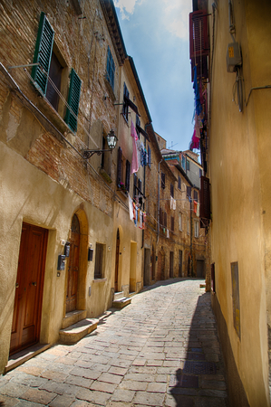 in the Streets of Volterra, Tuscany Editorial