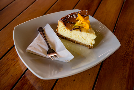 a pice of cheesecake Stock Photo