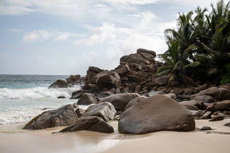 Granite rocks at the beach, Seychelles