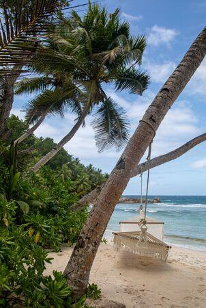 Hammock on the Beach, Felicite, Seychelles Reklamní fotografie