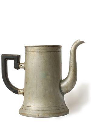 alte Mode Kaffee-Pot auf wei�en Hintergrund isoliert