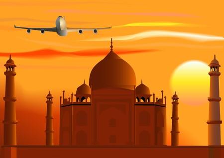 Taj Mahal Stock Vector - 7502796