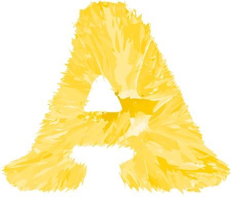 Eine Letter of orange Alphabet. Mit nur Volltonfarben gef�llt.