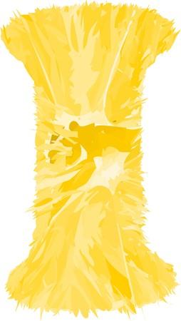 orange letter I Illustration