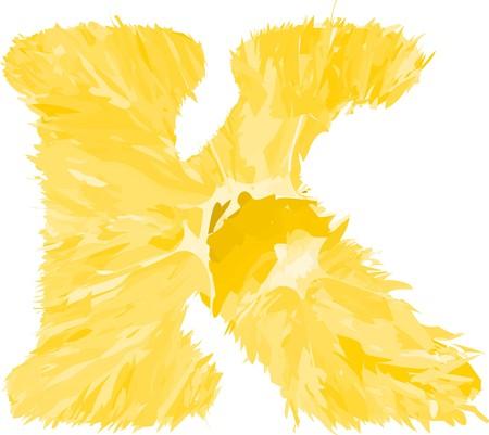 Orangen Buchstaben K