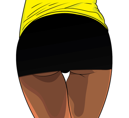 Sexy woman booty. Girls butt fitness lifestyle.