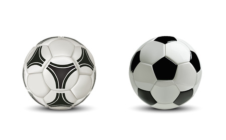 Realistic soccer ball or football ball. Isolated on white background. 版權商用圖片