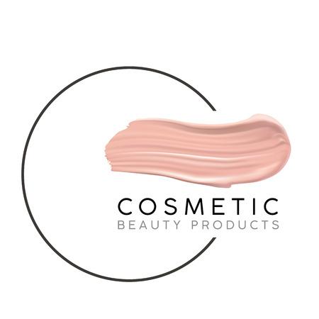 maquillage modèle de conception avec place pour le concept . logo cosmétique de luxe de la typographie de vin et des traits de vin de conception rouge Logo