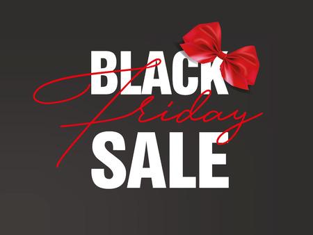 Black Friday sale inscription design template. Black Friday banner. Vector illustration. 矢量图像