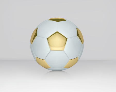 White and Gold soccer ball vector illustration