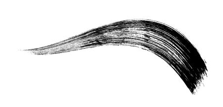 make-up cosmetic mascara brush stroke on white. Vector. Stok Fotoğraf - 91083473