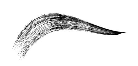 白メイク化粧マスカラーのブラシ ストローク。ベクトル。