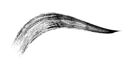 make-up cosmetic mascara brush stroke on white. Vector.