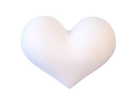 Realistisch wit valentijnskaarthart Stock Illustratie