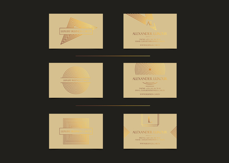 Beige gold luxury business cards set for vip event elegant greeting beige gold luxury business cards set for vip event elegant greeting card with golden circle m4hsunfo